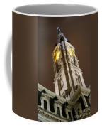 Philadelphia City Hall Clock Tower At Night Coffee Mug by Gary Whitton