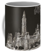 Philadelphia City Hall Mono Coffee Mug