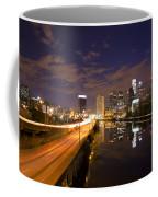 Philadelphia Cityscape From South Street At Night Coffee Mug