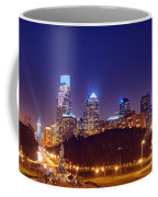 Philadelphia Nightscape Coffee Mug by Olivier Le Queinec