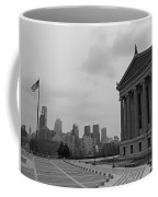 Philadelphia Skyline Black And White Coffee Mug