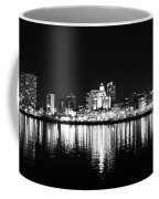 Philadelphia Skyline Panorama In Black And White Coffee Mug