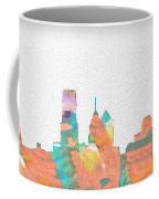 Philadelphia Watercolor Cityscape Coffee Mug