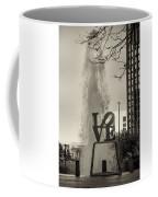 Philadelphia's Love Story In Sepia Coffee Mug