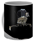 Philae Lander Descending To Comet 67pc-g Coffee Mug