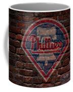 Phillies Baseball Graffiti On Brick  Coffee Mug by Movie Poster Prints