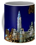 Philly City Hall At Night Coffee Mug