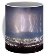 Phoenix Arizona City Lightning And Lights Coffee Mug by James BO  Insogna