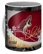 Phoenix Coyotes Christmas Coffee Mug