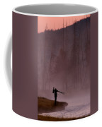 Photographer At Sunrise On The Madison River Coffee Mug