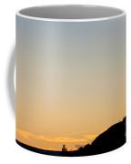 Photographer Silhouetted At Sunset Coffee Mug