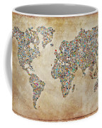 Photographer World Map Coffee Mug