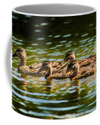 Photography Painting Of Mother And Her Ducklings Coffee Mug