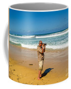 Photorgapher Near The Ocean Coffee Mug