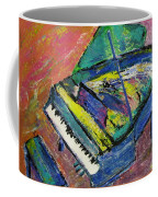Piano Blue Coffee Mug