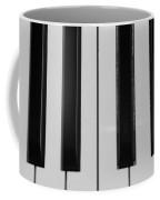 Piano Keys In Black And White Coffee Mug
