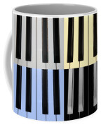 Piano Keys In Quad Colors Coffee Mug