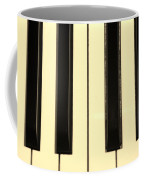 Piano Keys In Sepia Coffee Mug