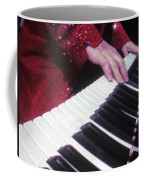 Piano Man At Work Coffee Mug by Aaron Martens