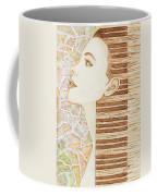 Piano Spirit Original Coffee And Watercolors Series Coffee Mug