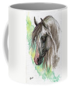 Piber Polish Arabian Horse Watercolor Painting Coffee Mug