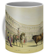 Picador Challenging The Bull, 1865 Coffee Mug