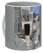 piccole case bianche di Grecia Coffee Mug by Guido Borelli