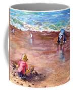 Picking Up Pebles Coffee Mug