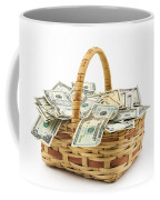 Picnic Basket Full Of Money Coffee Mug