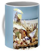 Picnic Display On The Beach Coffee Mug
