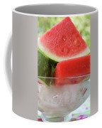 Pieces Of Watermelon In A Bowl Of Ice Cubes Coffee Mug