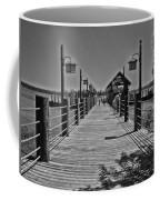Pier At Fort Wilderness In Black And White Walt Disney World Coffee Mug