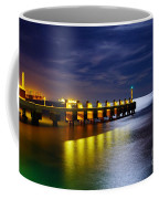 Pier At Night Coffee Mug by Carlos Caetano