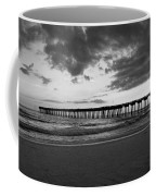 Pier In Black And White Coffee Mug
