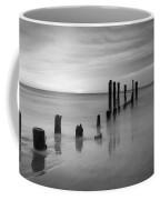 Pier Into The Past Bw 16x9 Coffee Mug