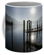 Pier On An Alpine Lake Coffee Mug