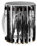 Pier Pilings Black And White Coffee Mug