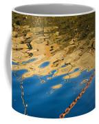 Pier Reflection And Rusty Chain Coffee Mug