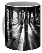 Pier Shadows Coffee Mug