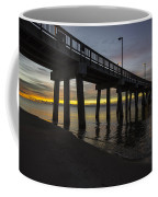Pier Sunrise On A Cold January Morning Coffee Mug