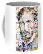 Pierre-auguste Renoir Watercolor Portrait Coffee Mug