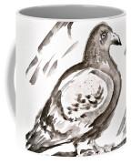 Pigeon I Sumi-e Style Coffee Mug