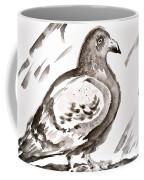 Pigeon II Sumi-e Style Coffee Mug