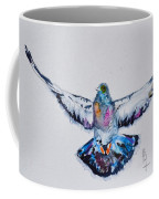 Pigeon In Flight Coffee Mug