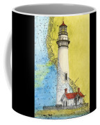 Pigeon Pt Lighthouse Ca Nautical Chart Map Art Coffee Mug