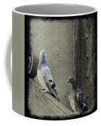 Pigeons In Damask Coffee Mug