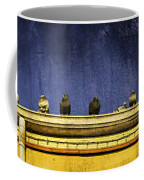 Pigeons On Yellow Roof Coffee Mug