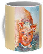Piggy In Pearls Coffee Mug