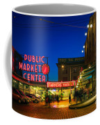 Pike Place Market Coffee Mug by Inge Johnsson
