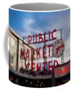 Pike Place Public Market Neon Sign Coffee Mug